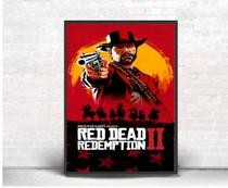 Quadro Decorativo Poster Red Dead Redemption 2 Rocstar - Quadros A+