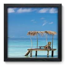 Quadro Decorativo - Praia - 33cm x 33cm - 101qnpbp - Allodi