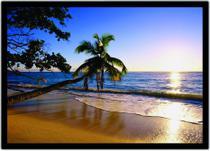 Quadro Decorativo Praia Coqueiros Mar Paisagem Natureza Decorações Com Moldura G05 - Vital Quadros