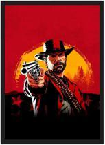 Quadro Decorativo Red Dead Redemption Games Jogos Geek Decorações Com Moldura G01 - Vital Quadros