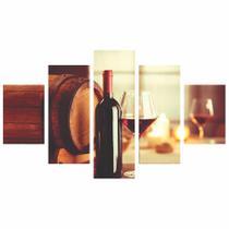 Quadro Decorativo Sala Cozinha Gourmet Vinho 114x65 - Quadros mais