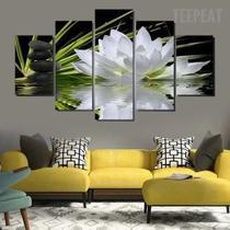 Quadro Decorativo Sala De Estar Painel Unico Flores - Premium Art Decoracoes