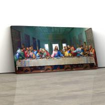 Quadro Decorativo Santa Ceia 150x70cm Sala ou Quarto - Artplex