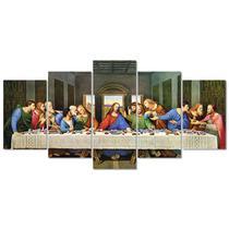 Quadro Decorativo Santa Ceia Quarto Jesus Religioso Sala 21 - Creative Frames