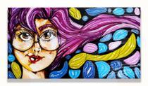 """Quadro decorativo série """"Meninas"""" por Ná Gabrich - 50x30 - Cosmos"""