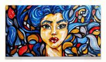 """Quadro decorativo série """"Meninas"""" por Ná Gabrich - 54x30 - Cosmos"""
