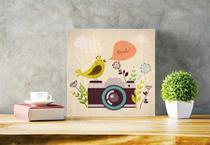 Quadro Decorativo Smile em um click 20X20 - Paperhome
