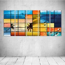 Quadro Decorativo - Surf Mosaico - Composto de 5 Quadros - Decormob