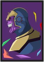 Quadro Decorativo Thanos Nerd Geek Super Heróis Decorações Com Moldura G04 - Vital Quadros