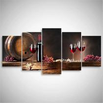 Quadro decorativo Vinho Para Cozinha Sala Gourmet Mosaico 5 - Pri D'cora