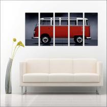 Quadro Decorativo Vintage Carros Mosaico Kombi Com 5 Peças GG11 - Vital Quadros Do Brasil