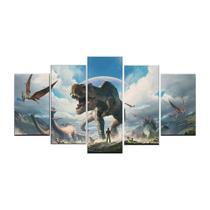 Quadro Dinossauros Lindo 5 Peças Mosaico - Premium Art Decoracoes