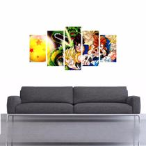 Quadro Dragon Ball Z Esfera Do Dragão Decorativo 200x100 - Quadros mais