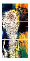 Quadro Elefante Decorativo Mosaico Quarto - Neyrad