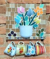Quadro em mosaico chaveiro - Myo Atelier