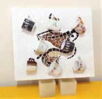 Quadro em mosaico xícara de café 40 cm - Myo Atelier
