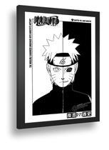 Quadro Emoldurado Poste Naruto Manga Classico Retro - Quadros A+