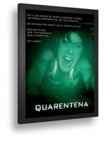 Quadro Emoldurado Poste Quarentena Terror Classico Guerracom Vidro - Quadros A+