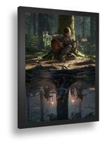 Quadro Emoldurado Poste The Last Of Us Ellie Joel Ps4 - Quadros A+