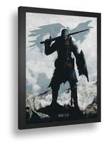 Quadro emoldurado Poster Chosen Undead Dark Souls Rpg Jogo - Quadros A+