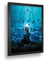 Quadro Emolduradoati Poste Aquaman Mestre Dos Mares Classico Com Vidro - Quadros A+