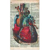 Quadro Enfermagem Medicina Saúde Decorativo Livro Coração MDF - Nobre Médica Acessórios