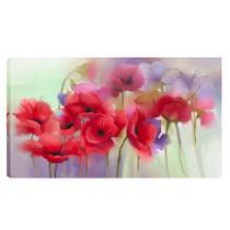 Quadro Flores Cereja Vermelho 55x100cm - Uniart