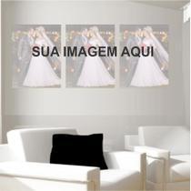 Quadro Foto Decorativo Personalizado 40x30 3uni Kit - Quadros Mais