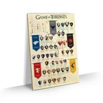 Quadro Game of Thrones Grande Árvore Personagens 90x60 - Bimper