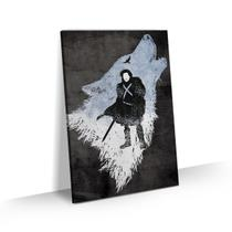 Quadro Game of Thrones Jon Snow Stark Stark Decorativo 60x40 - Bimper