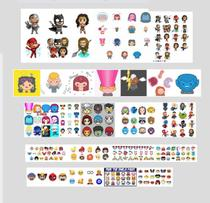 Quadro icon emoji marvel pop nerd geek vingadores dc x-men - Artesanato