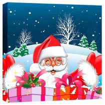 Quadro Impressão Digital Papai Noel Vermelho 30x30cm Uniart -