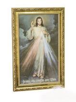 Quadro jesus misericordioso - resinado - Armazem