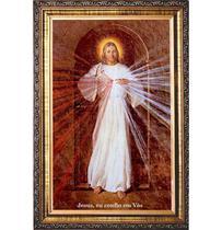 Quadro jesus misericordioso resinado imagem skemp - Armazem