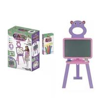 Quadro lousa 2 em 1 infantil Art Brink com pedestal Lilás com Rosa -