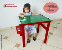 Quadro lousa mesa Infantil educativo Carimbras 2 em 1 -
