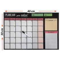 Quadro Lousa Planejador Temático Planner 30x40 cm Metal - Gift Presentes