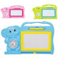 Quadro magico lousa infantil com reloginho educativo elefante crianças e bebe - Gimp - Dm Toys