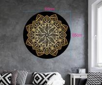 Quadro Mandala Decorativa Redonda MDF -