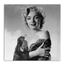 Quadro Marilyn Vestido de Renda Uniart Preto & Branco 30x30cm -