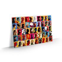 Quadro Marvel Grande Heróis Decorativo Tela Canvas 90x60 - Bimper