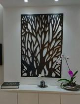 Quadro MDF Abstrato Preto - Ateliê Da Decoração