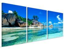 Quadro Mosaico 120x60 Paisagem Mar - Neyrad