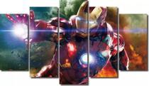 Quadro Mosaico 5 Partes Para Sala Homem De Ferro Iron Man - Paradecoração
