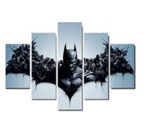 Quadro mosaico 5 peças batman abstrato moderno painel para decoração de ambientes - Neyrad