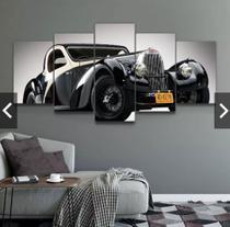 Quadro mosaico 5 peças carro antigo abstrato moderno automotivo painel para decoração de ambientes - Neyrad