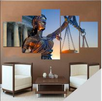 Quadro mosaico 5 peças deusa da justiça abstrato moderno painel para decoração de ambientes - Neyrad