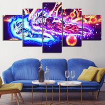Quadro Mosaico 5 peças Dragon Ball Painel Decorativo Decoração de Interiores - Neyrad