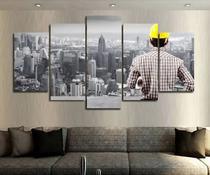 Quadro Mosaico 5 Peças Engenharia Civil Hd - Premium Art Decoracoes
