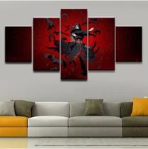 Quadro mosaico 5 peças itachi naruto abstrato moderno painel para decoração de ambientes - Neyrad